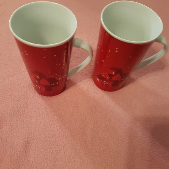 Bundle His and hers  red starbucks mugs